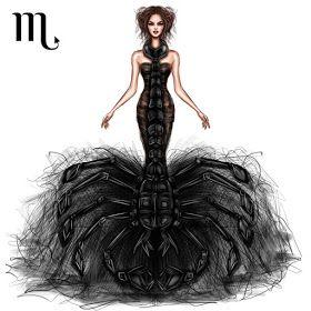 Zodiac Haute Couture Exquisite Fashion Drawings
