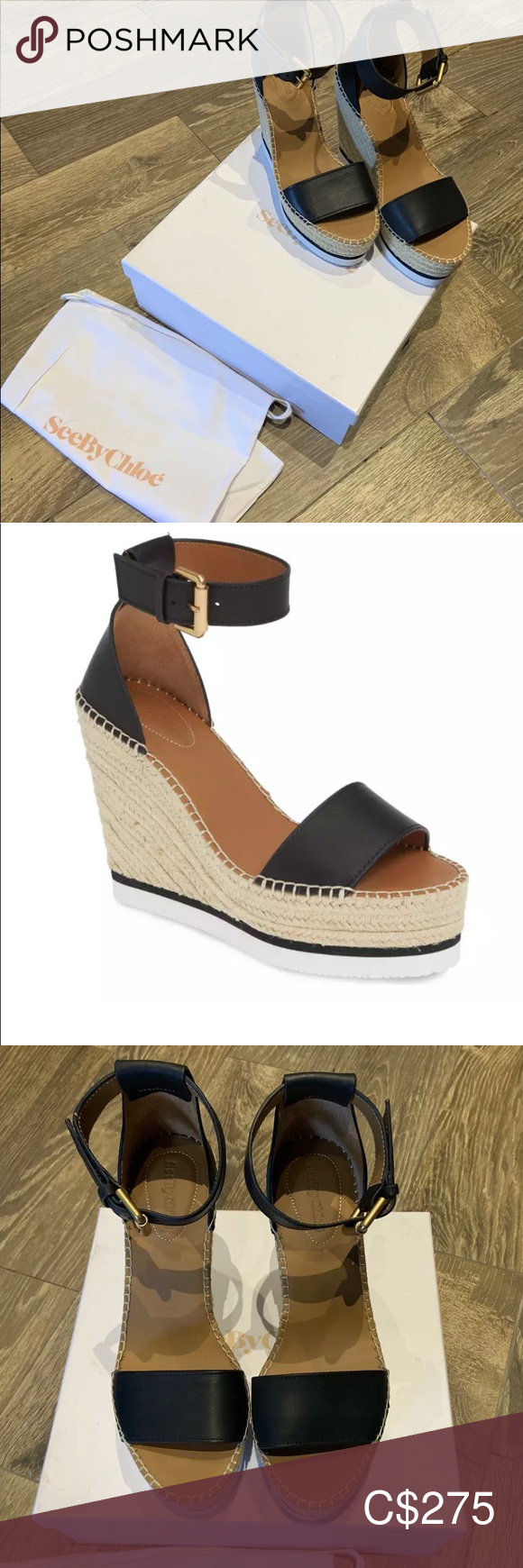 See by Chloe Glyn Wedge Espadrille size 40 See by Chloe  Glyn wedge sandal  Size 40 Brand new with box and dust bag See By Chloe Shoes Espadrilles #seebychloe