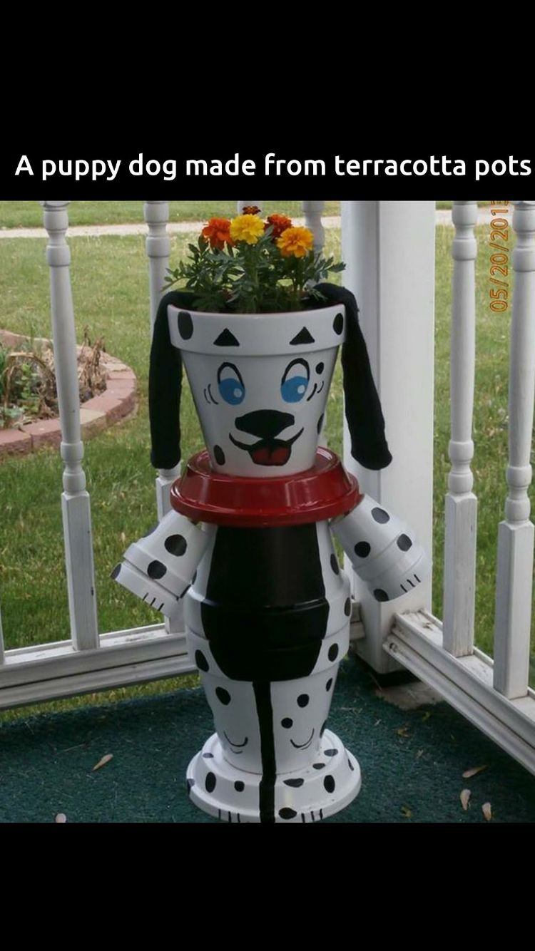 Dalmatian clay pot planter clay pot lighthouses other - Pot de decoration ...