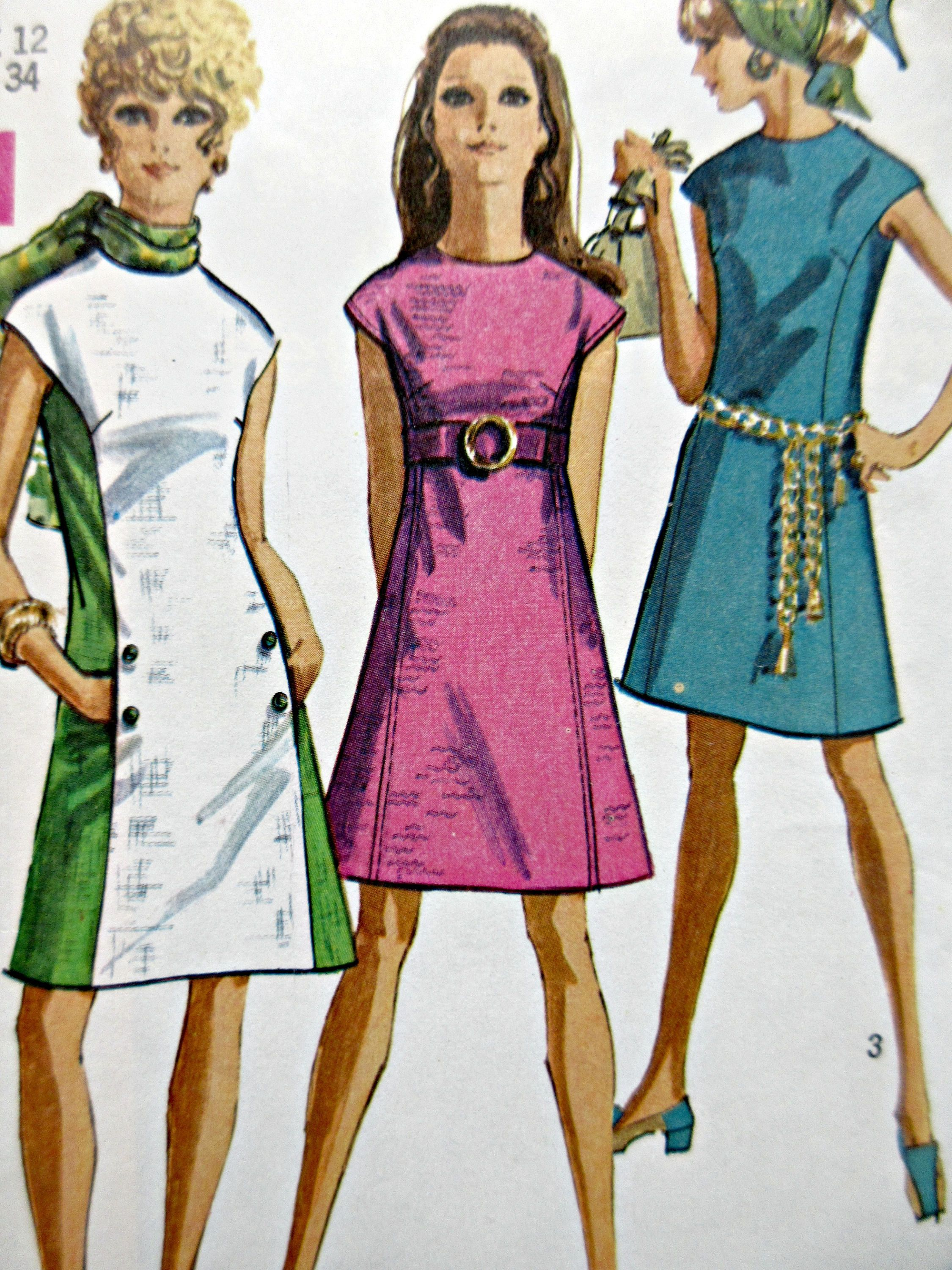 1960s Dress Patterns Awesome Design