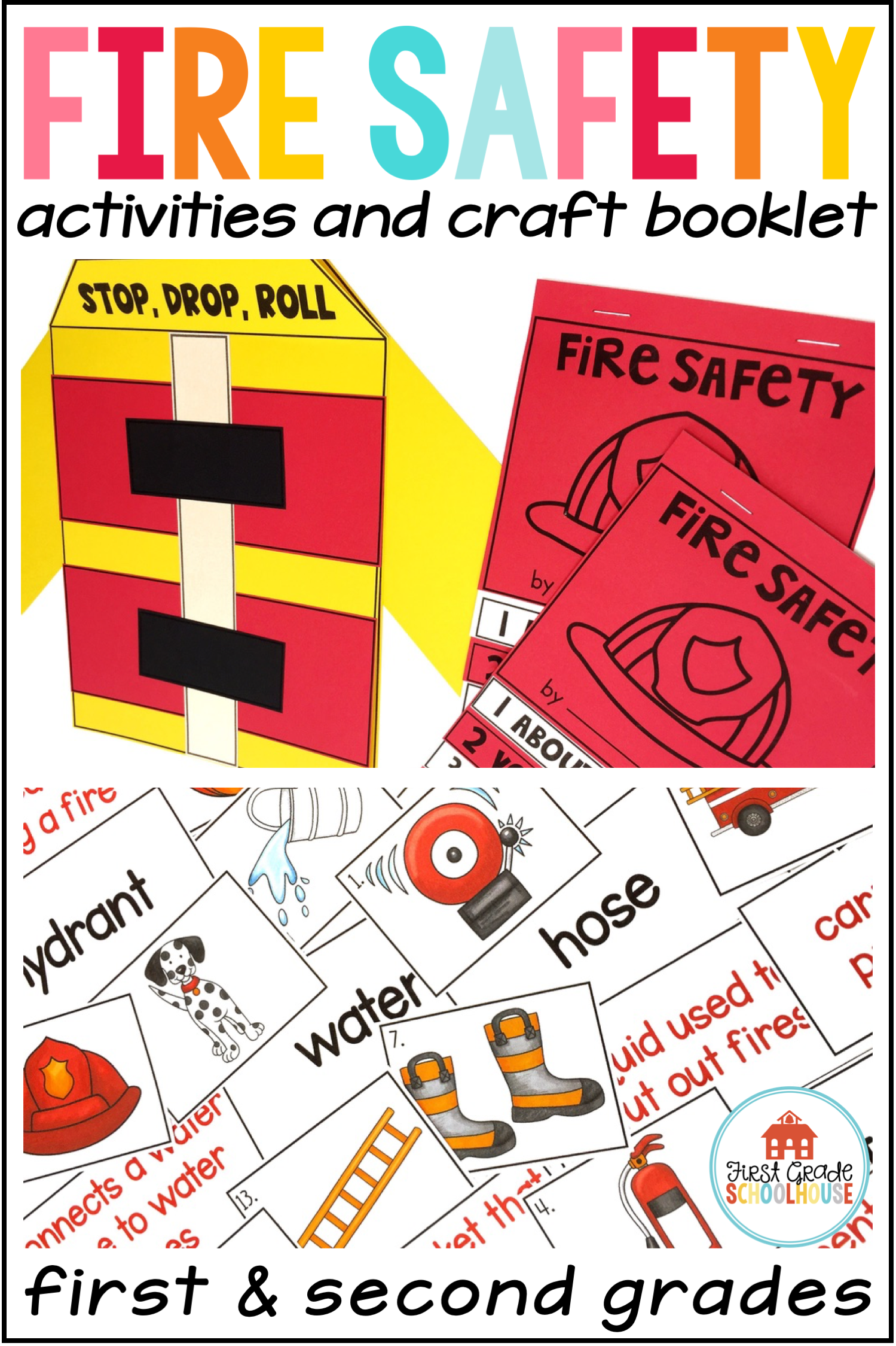 Fire Safety Activities And Craft Booklet With Images