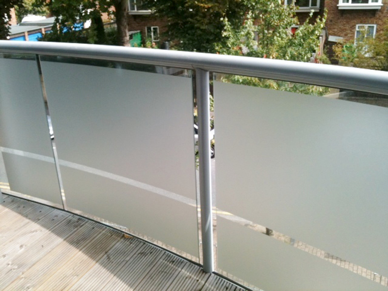 Superior Frosted Glass Window Panel, Applied To This Balcony Glass Panels .