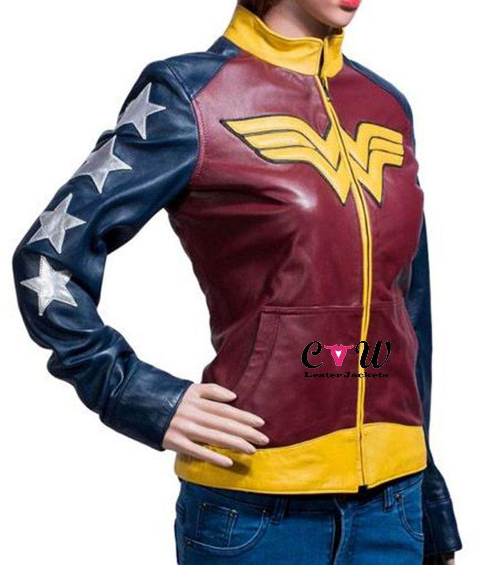 Wonder Woman Jacket Wonder woman costume, Leather