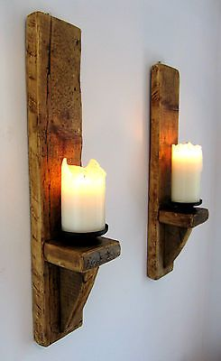 Cool Sconce Lights Wood Candle Holders Candle Wall Sconces