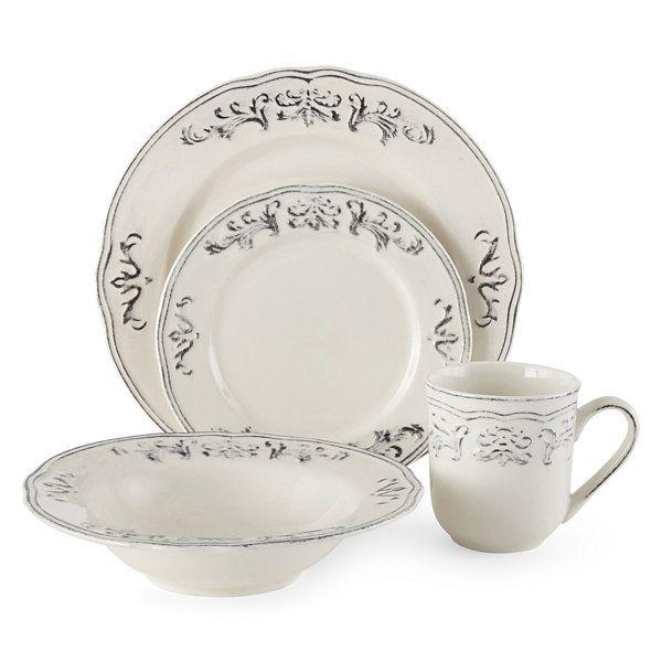 Thomson Pottery® Athens Dove 16-pc. Dinnerware Set  sc 1 st  Pinterest & Thomson Pottery® Athens Dove 16-pc. Dinnerware Set | Decor ...