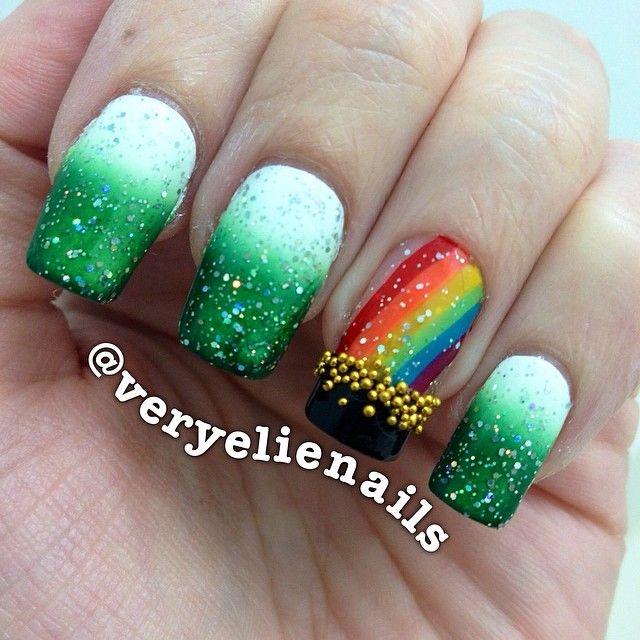 Veryelienails St Patrick S Day Nail Nails Nailart With Images