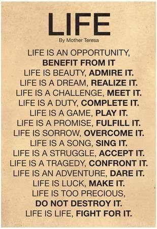 'Mother Teresa Life Quote Poster' Prints  | AllPosters.com