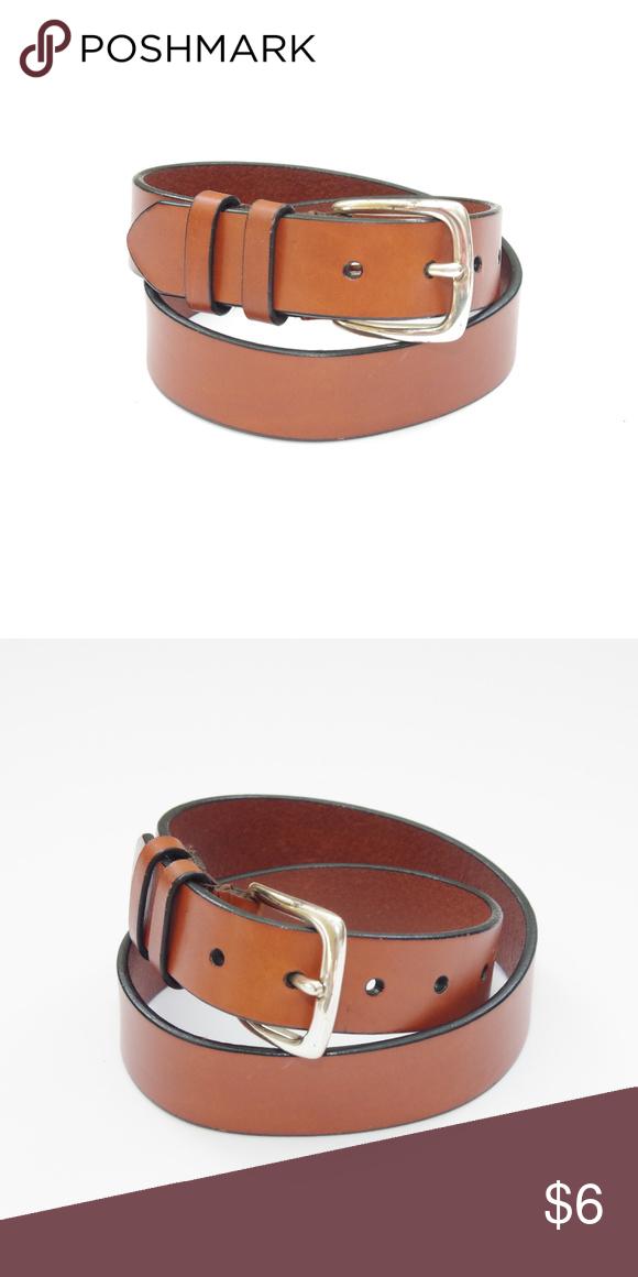 Dockers Genuine Leather Cognac Slim Belt Brown Gorgeous Cognac