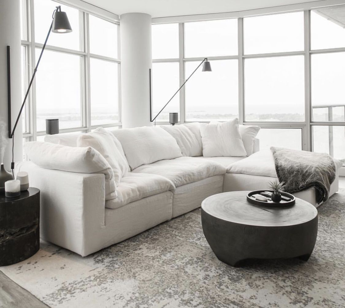 All White Modern Cloud Sofa Restorationhardware White Furniture Living Room The Big Comfy Couch Couches Living Room