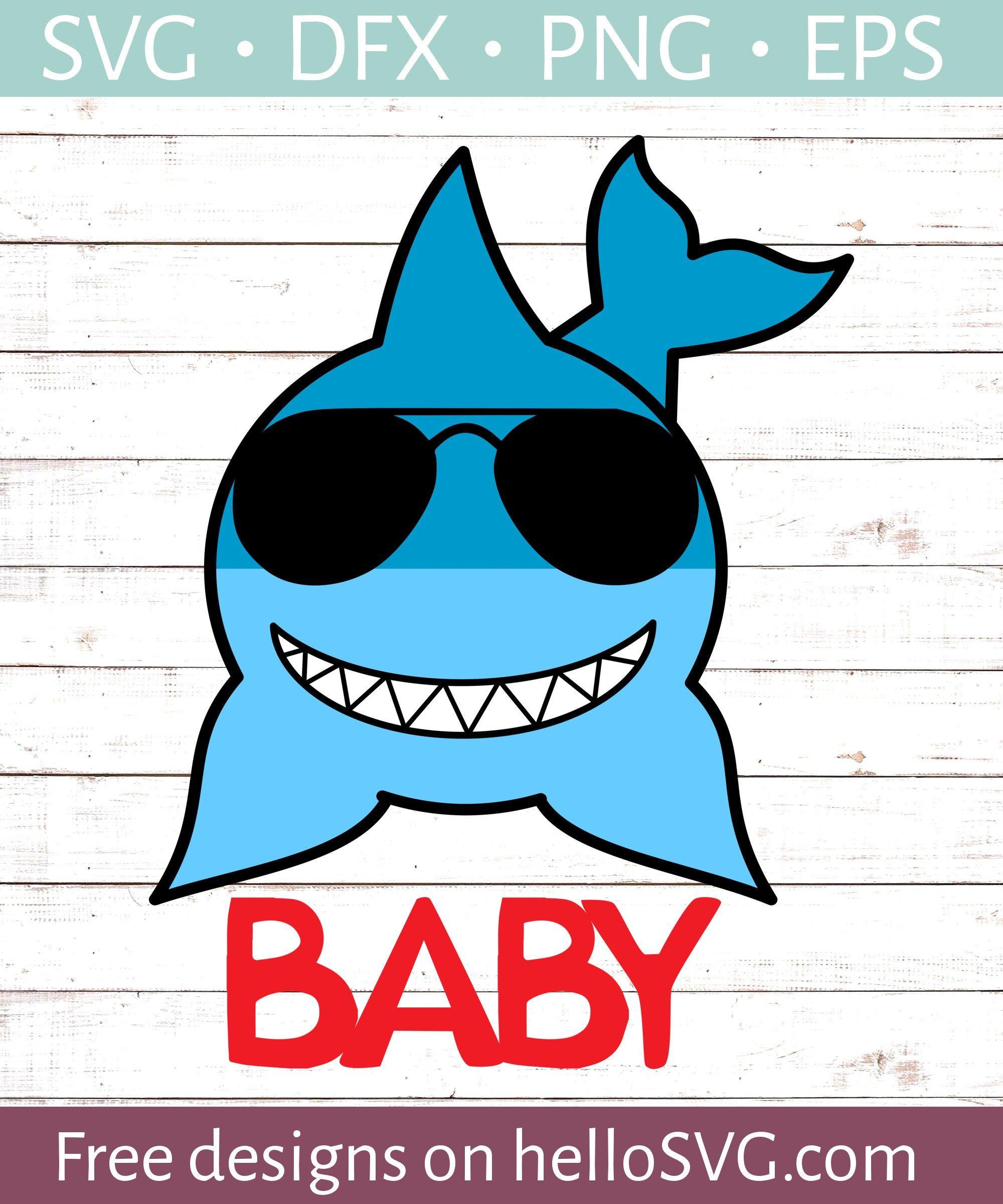 Baby Boy Shark Svg free files, Free svg, Svg kids