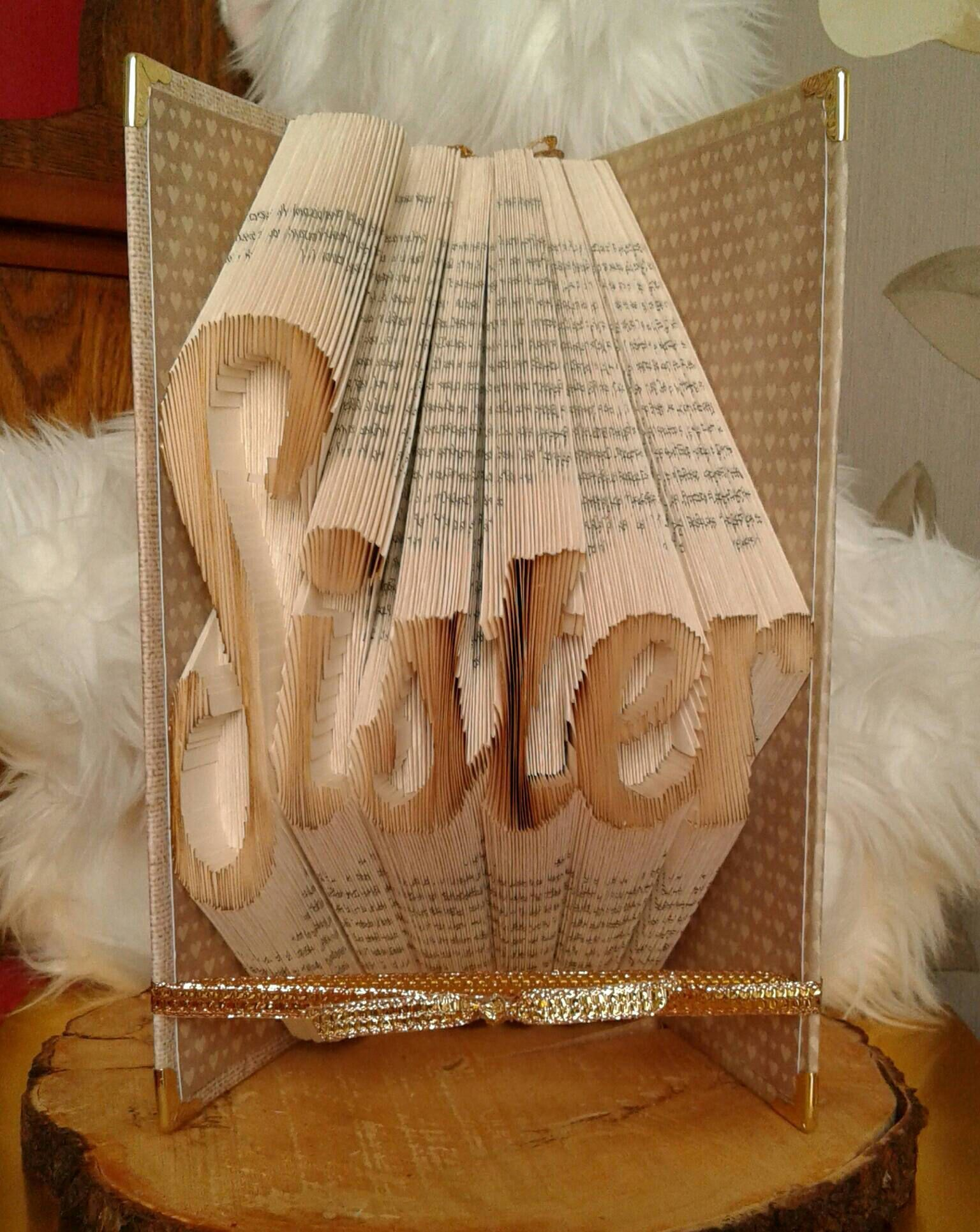 Colour book art - Folded Book Art Sister Birthday Present For Big Sis 3d Centrepiece Party Decor