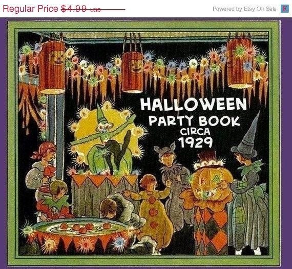 Sale Dennison HALLOWEEN Party magazine 1929 by eVINTAGEpatterns