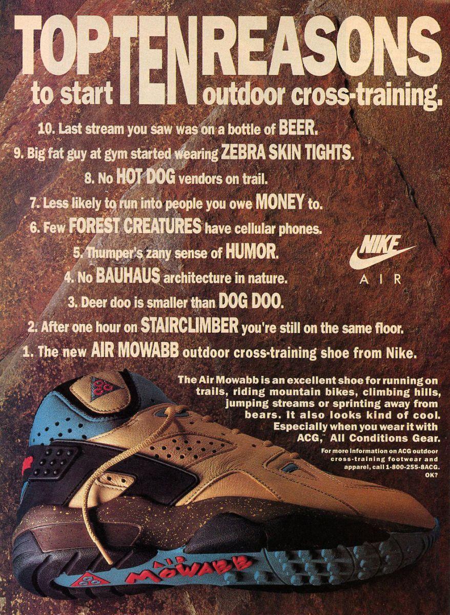 Vintage Ad Nike Air Mowabb Acg Nike Ad Nike Acg Acg