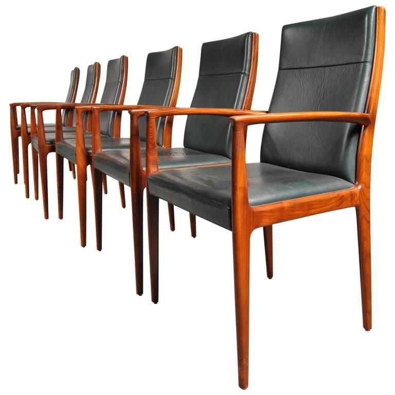 Set Of Six Conference Dining Chairs For Lbke Germany Circa 1960