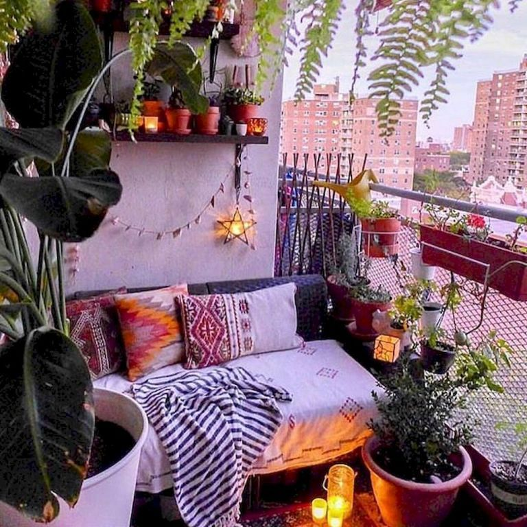85 Small Apartment Balcony Decorating Ideas images