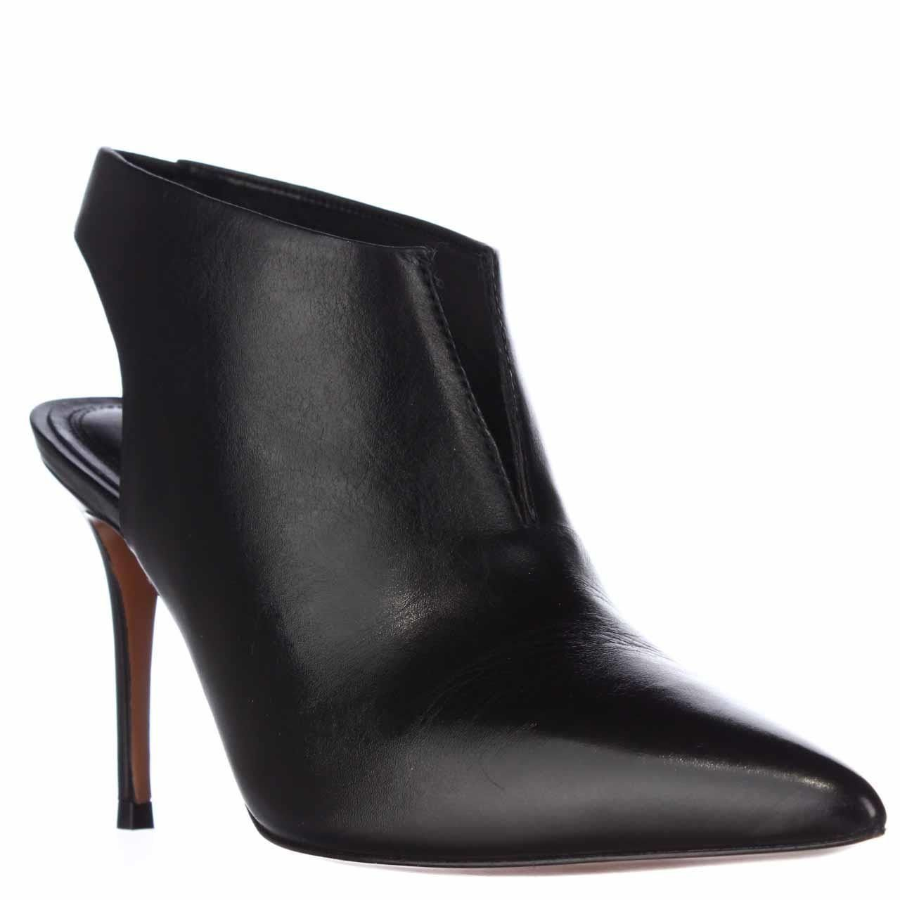 Marc Fisher Talia Pointed-Toe Heels - Black Leather