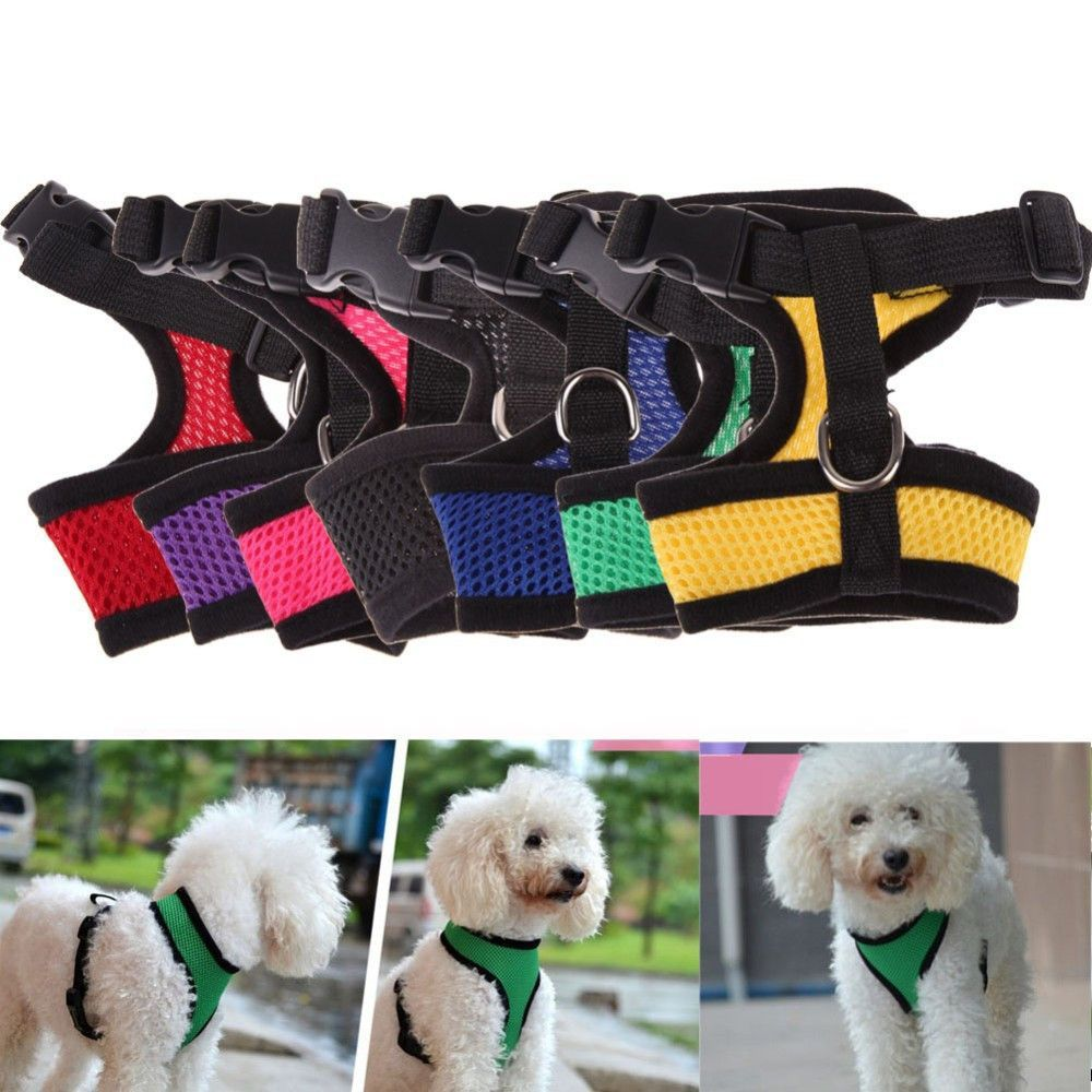 Adjustable Soft Mesh Dog Cat Pet Harness 7 colors to