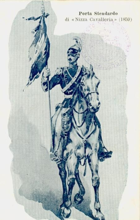 Regio Esercito - Cavalleria, Nizza Cavalleria, portastendardo, 1859