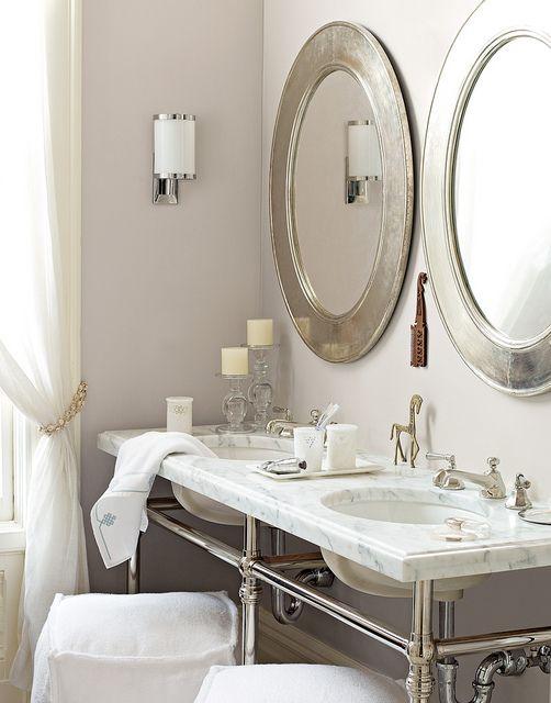 Hero Bathroom Mirror Oval, Silver Bathroom Mirrors