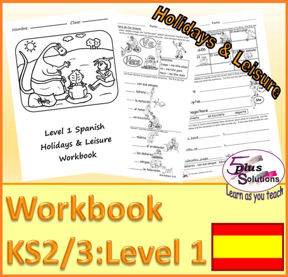 PRIMARY SPANISH COPIABLE WORKBOOK (KS2/3):Sport, leisure