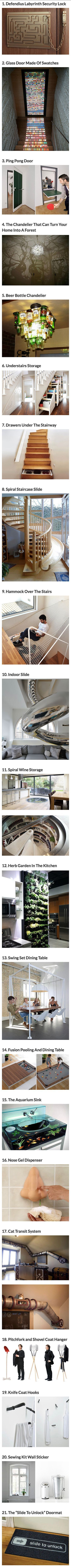 Some of these ideas would be amazing fun depending on my future home