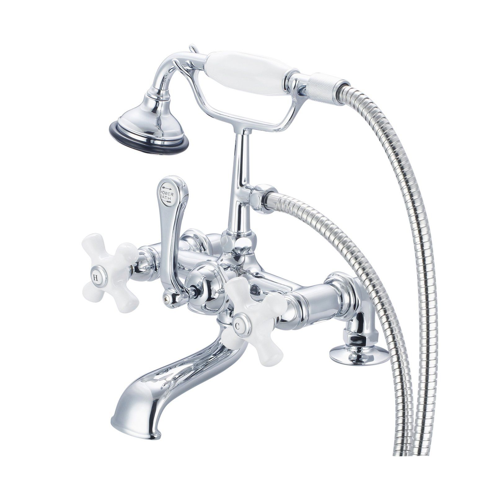 Water Creation Vintage Classic F6 0007 Deck Mount Tub Faucet With