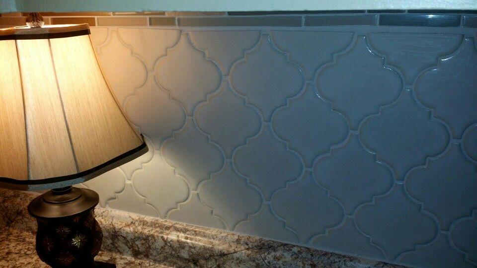 My arabesque patterned kitchen basksplach