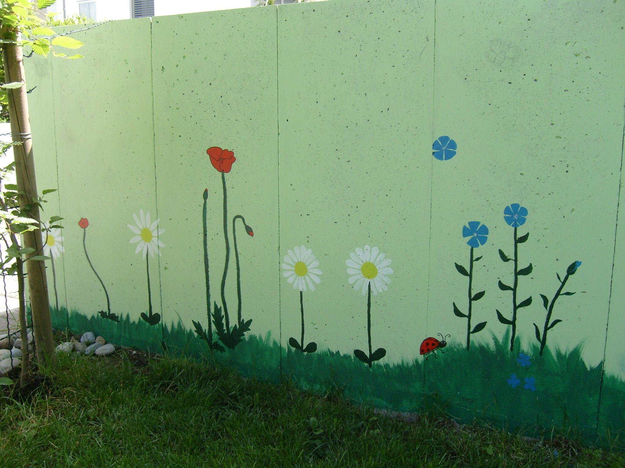 Betonmauer Verschnern  Home Ideen