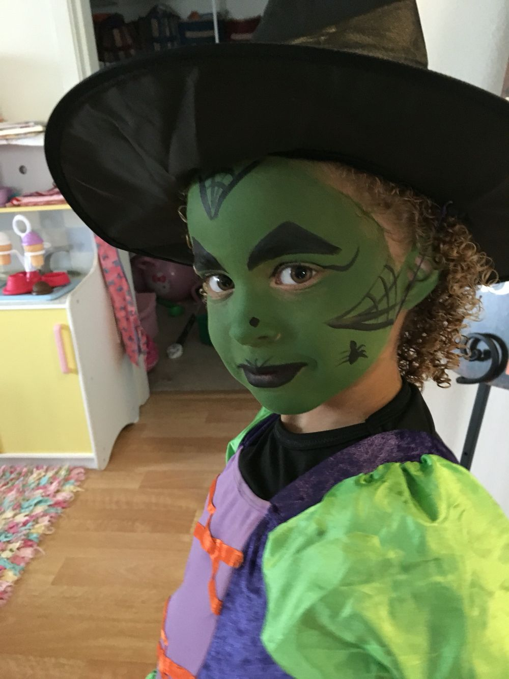 Easy Witch Face Paint For Kids Witch Face Paint Face Painting Halloween Kids Witch Makeup