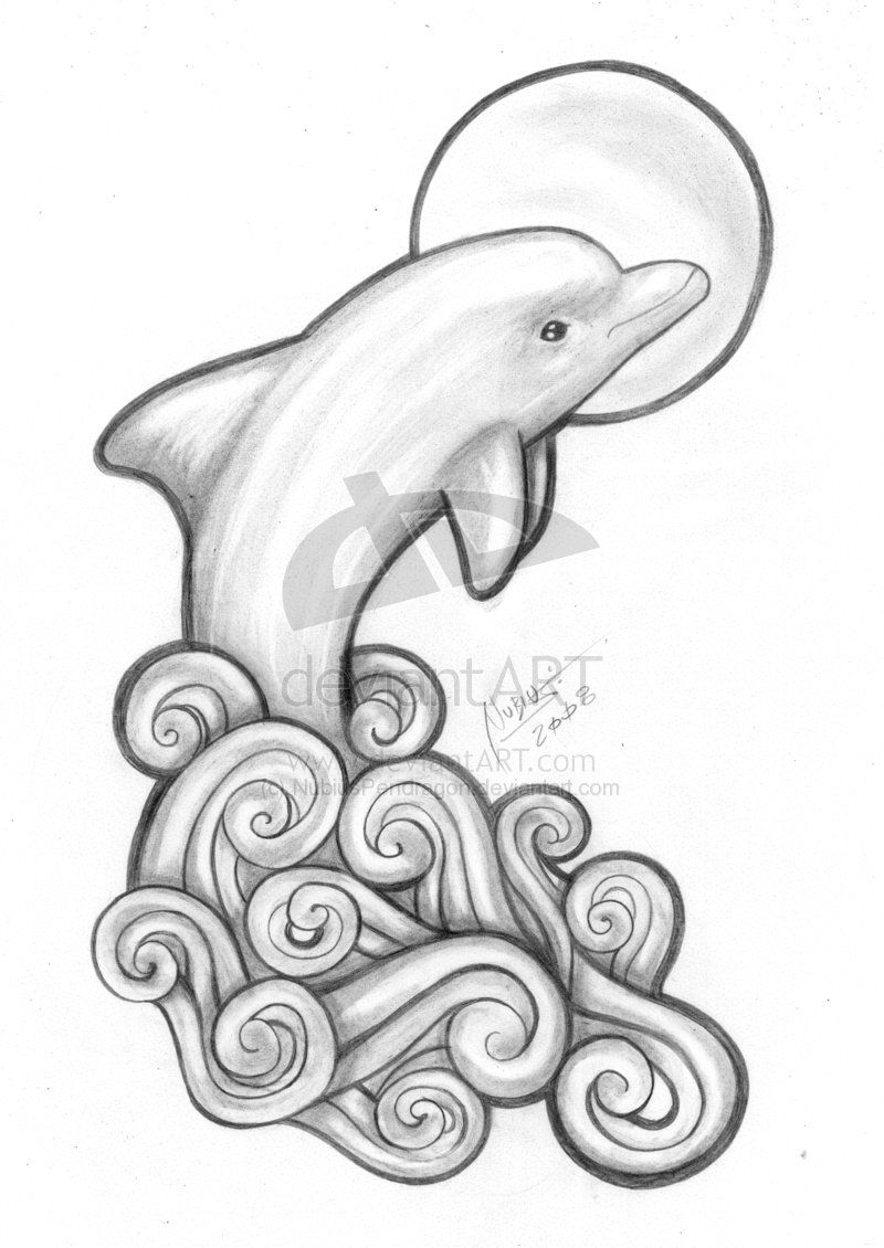 Pics photos dolphin tattoo design tattoos art and designs - Who Knows Starts Is A Good Design For Tattooing Then I Go By Color Beach Tattoos Red Tattoos Make Tattoo Tattoo Art Dolphins