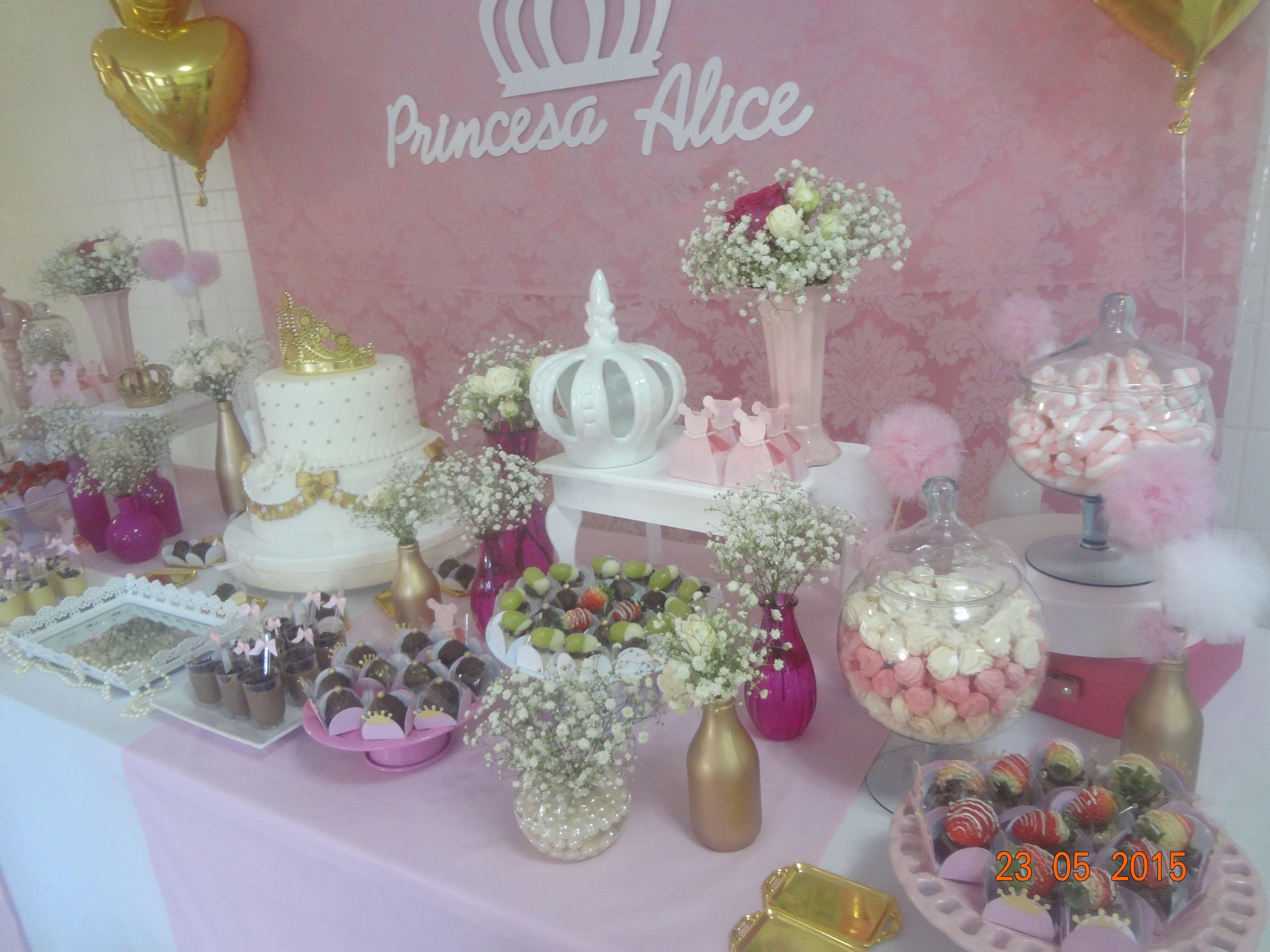 Detalhe festa princesa.