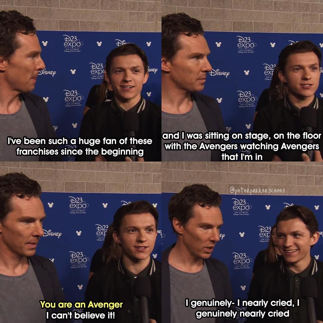 "I am so proud of him ♡ And I just love how Ben says ""You are an Avenger"""