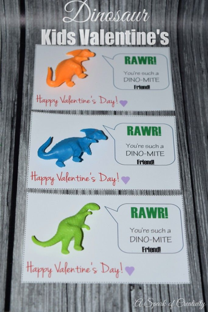 Dinosaur Kids Valentineu0027s With Free Printable