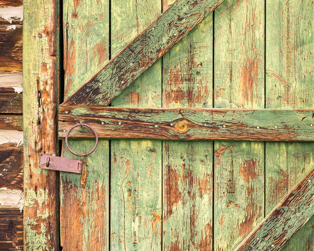 Rustic Door Print, Country Home Decor, Barn Door Photograph ...