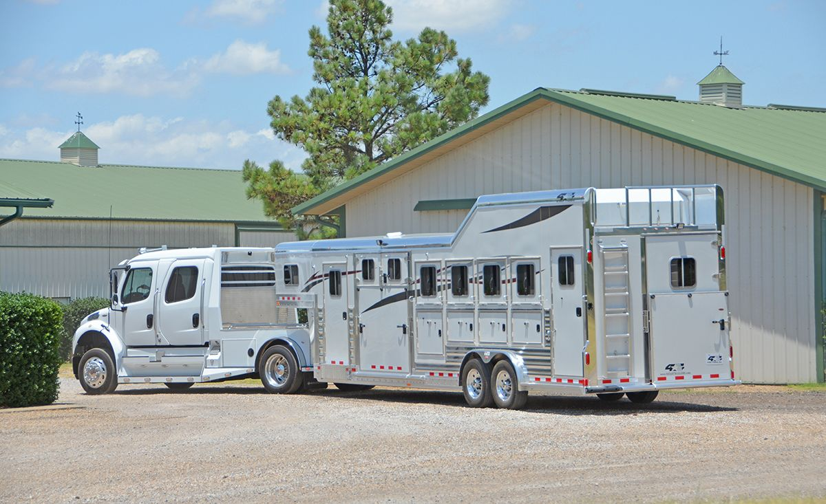 A Little Photo Shoot With Sportchassis Trucks And Our Newly Designed 6h Slant With Double Swing Dividers 800 848 3095 Horse Trailers Horse Trailer Horses