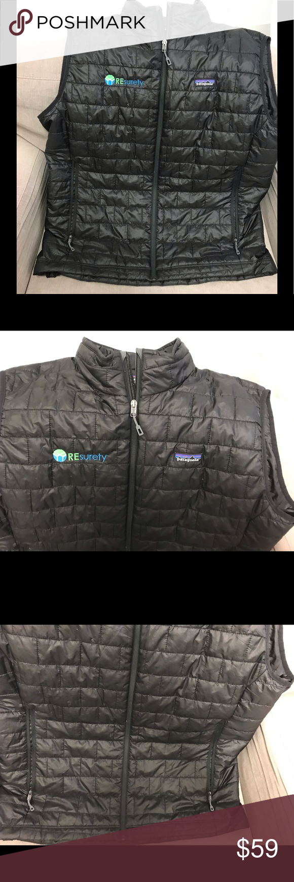 Patagonia Men's Black Vest with Logo Patagonia mens