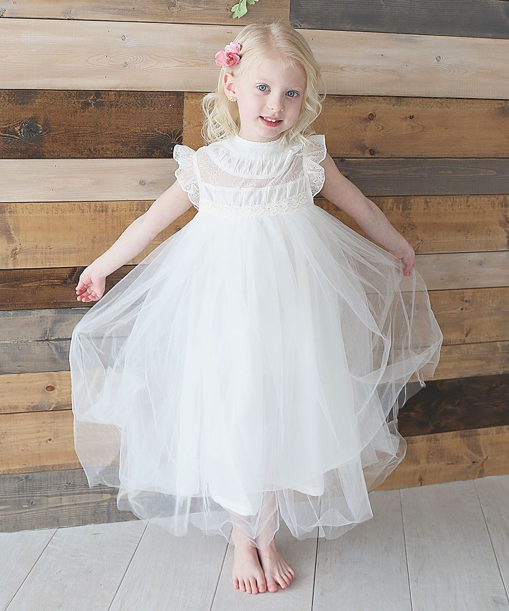2f3534b28 White Ruffle   Tulle Smocked Dress - Toddler   Girls