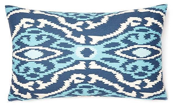 Exotic 12x20 Cotton Pillow, Blue | Instant Refresh | One Kings Lane