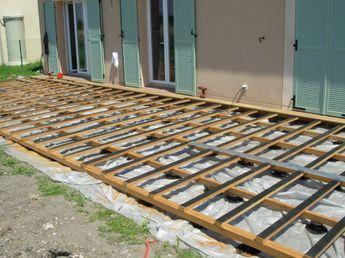 poser ma structure de terrasse bois sur g otextile astuce jardin pinterest pergolas. Black Bedroom Furniture Sets. Home Design Ideas