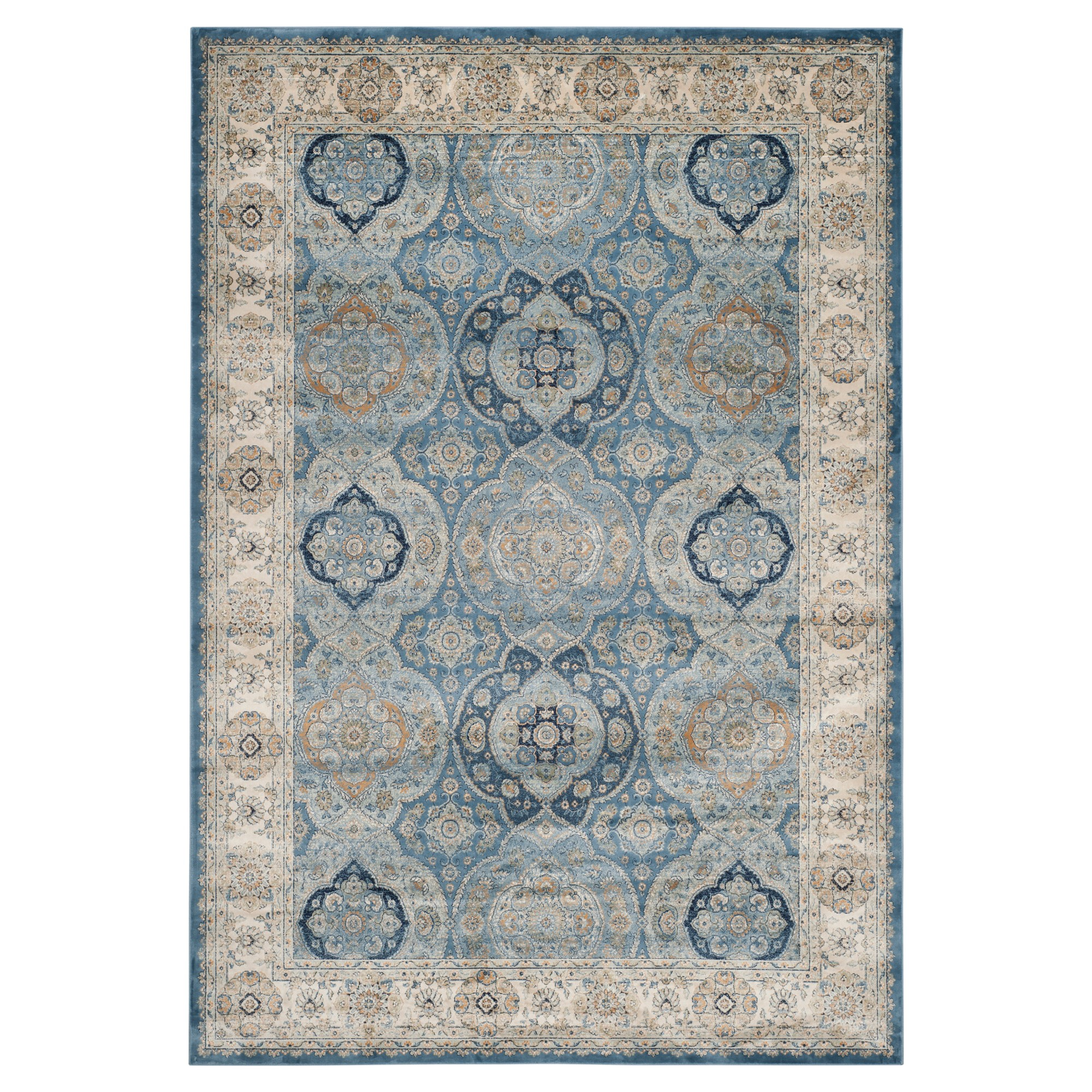 Barrie Area Rug Light Blue Ivory 8 X 11