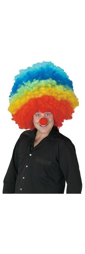 Mega Clown Multicolor Costume Wig Partybell Com Costume Wigs Halloween Wigs Clown Wig