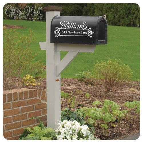 Vinyl Mailbox Lettering-Vinyl Mailbox Lettering