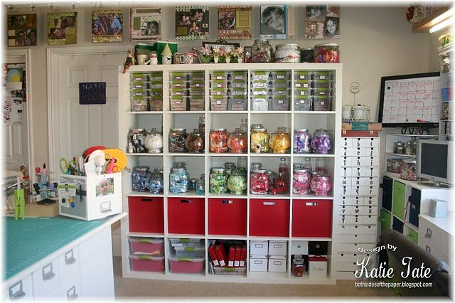 Storage Solutions For Craft Rooms: Great Scraproom Layout. Can't Wait For IKEA To Come The
