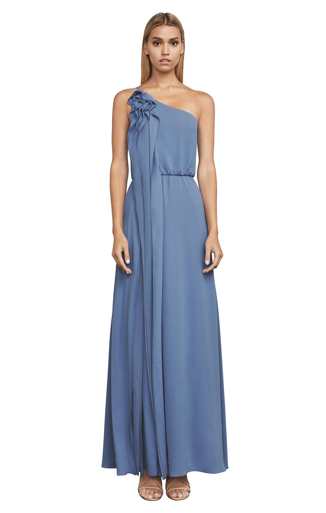 Joyce One-Shoulder Ruffle Gown | Wedding | Pinterest | Ruffles ...
