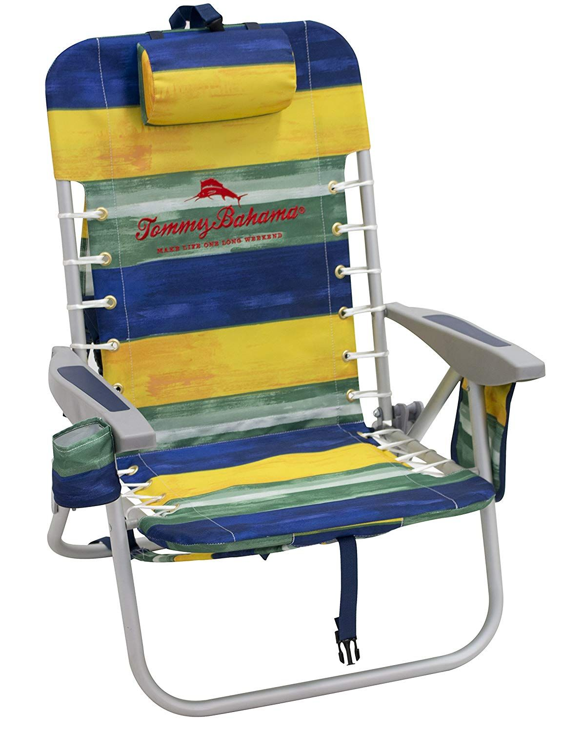 Tommy Bahama Lace Up Backpack Chair Stripe Garden Outdoor Tommy Bahama Beach Chair Striped Chair Backpacking Chair