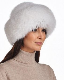 035cd52699d10 Crowns. Raylene White Fox Fur Roller Hat with Mink Top Russian Hat