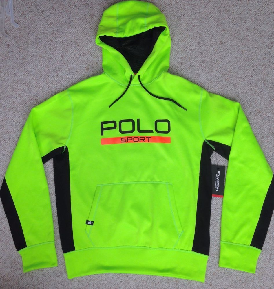 (MED) new98 POLO SPORT DRY FIT HOODIE Ralph Lauren