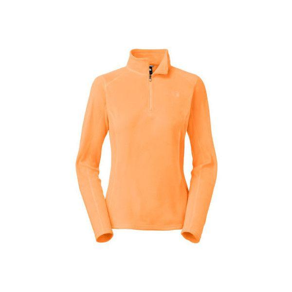 Women's The North Face Glacier 1/4 Zip - Impact Orange Sweaters ...