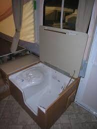 Resultado de imagen de camper van shower bathroom ideas