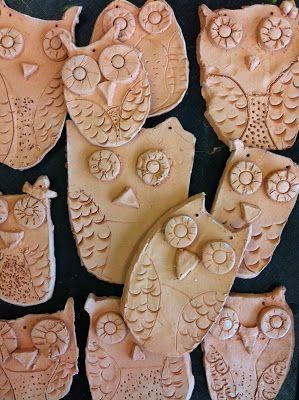 2nd grade art lesson plan terracotta clay owls elementary ceramics terra cotta